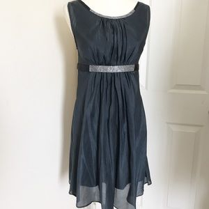 esley jeweled neck waist dress